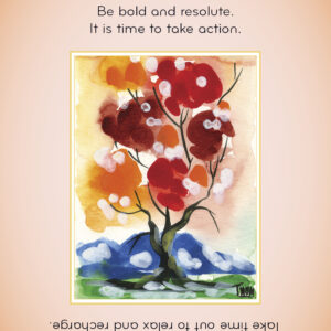 fire element astrology oracle card